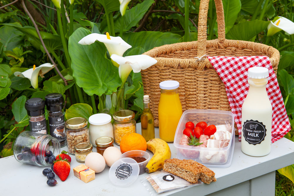 Picnic hampers at Oakhurst Farm Cottages